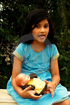 Girl Teasing Royalty Free Stock Photos - Image: 3598198