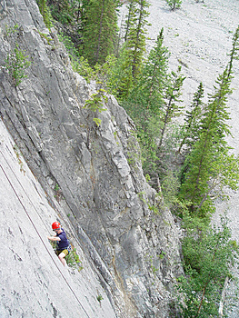 Climbing In The Canadian Rockies Royalty Free Stock Images - Image: 362419