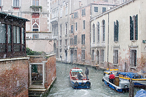 Venetian Winter Workers Royalty Free Stock Photography - Image: 362437