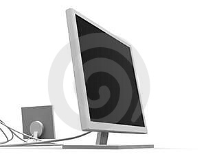 Dois Monitores 1 Foto de Stock - Imagem: 363550