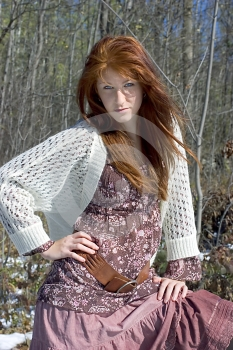 Attractive Young Redheaded Model Stock Image - Image: 367351