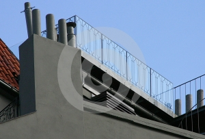 Moderne Villa Stock Fotografie - Beeld: 367832