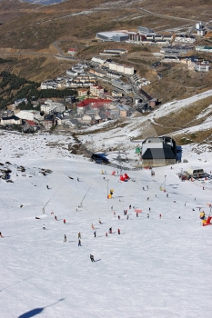 Looking Down The Ski Slopes Of The Sierra Nevada Mountains In Spain Stock Image - Image: 368321