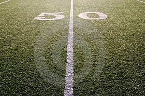 Fifty Yard Line Royalty Free Stock Image - Image: 3601626
