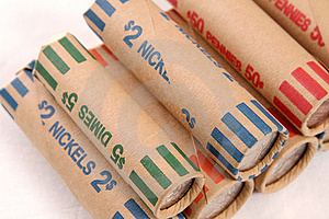 Rolled US Coins Stock Photos - Image: 3601893