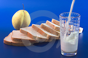 Milk Pour Into A Glass Royalty Free Stock Images - Image: 3607719
