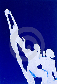 White Sculpture Royalty Free Stock Photos - Image: 3611988