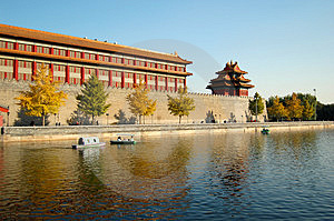 Moat & Turret, Forbidden City Stock Photography - Image: 3614252