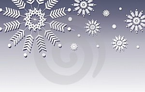 Blue Snowflake Background Border Royalty Free Stock Image