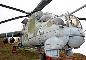 Helicopter MI-24 Stock Image - Image: 3625091