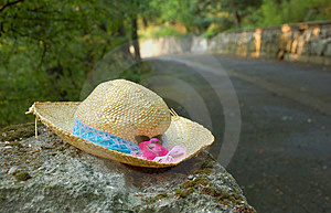 Lost Straw Lady's Hat Royalty Free Stock Photo - Image: 3631535