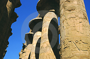 Philae Temple Colums Royalty Free Stock Photos - Image: 3639868