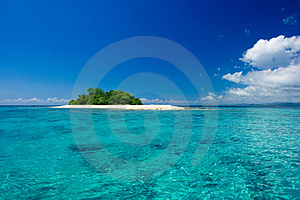 Tropical island vacation paradise Stock Photo