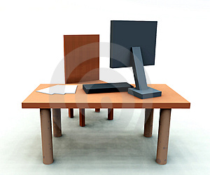 Desk With Chair 4