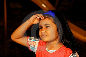 Girl Waiting For Long Stock Images - Image: 3641584