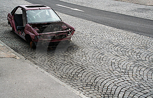 Car Wreck Royalty Free Stock Photos - Image: 3643198
