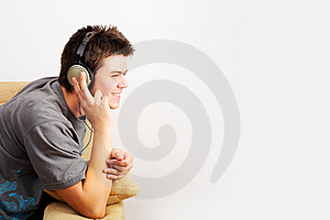 Listening Music Free Stock Photography