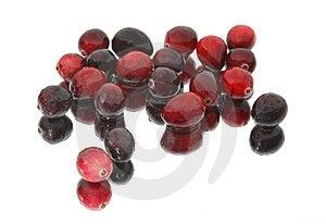 Wet Cranberries on Mirror