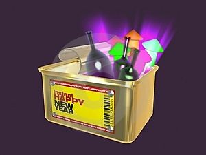 Instant Happy NEWYEAR Royalty Free Stock Photos - Image: 3644348