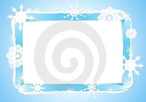 Rustic Snowflake Frame or Border 2 Stock Image