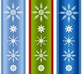 Various Xmas Snowflake Borders Royalty Free Stock Images