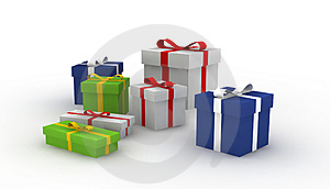 Gift boxes Free Stock Images