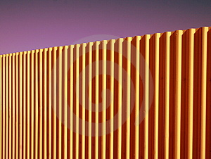 Corrugated Fence Royalty Free Stock Photos - Image: 3674878