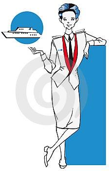 Job Series - Stewardess Stock Photos - Image: 3679433