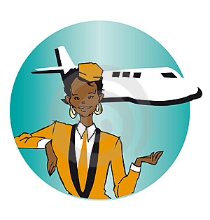 Job Series - Stewardess Royalty Free Stock Photo - Image: 3681295