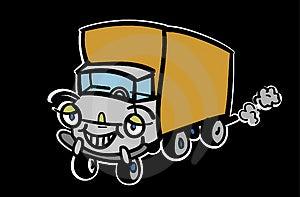 Caminhão Dos Desenhos Animados Fotos de Stock - Imagem: 3685713