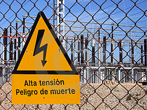 Electrical Danger Stock Photo - Image: 3686010