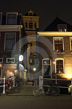 Delft City Centre By Night Stock Image - Image: 3692831