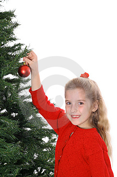 Child Hanging Ornament Smile Copyspace Royalty Free Stock Images - Image: 3693469