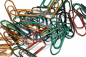 Stock Photos - Colorful paperclips