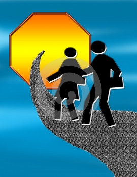 Walking Sign Royalty Free Stock Images - Image: 373069
