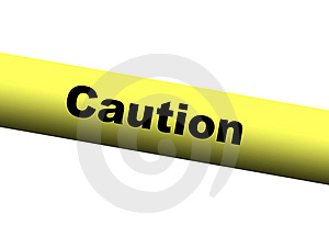 Yellow Caution Barrier Tape Stock Image