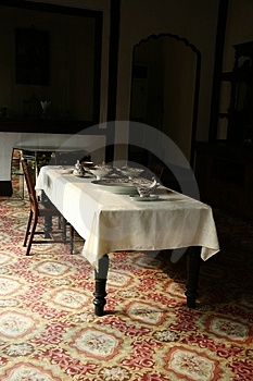 Royal Dining-room Stock Images - Image: 3719204