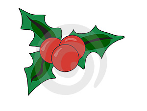 Christmas holly Royalty Free Stock Image