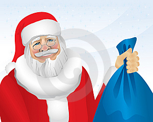 Santa With Presents (illustration) Royalty Free Stock Images - Image: 3724169