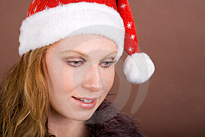 Astonished Miss Santa Royalty Free Stock Photo - Image: 3726765
