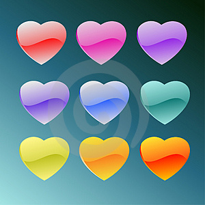 Set Of Detailed Hearts Stock Photos - Image: 3727743