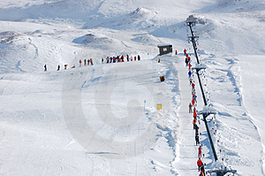 Ski-lift Stock Image - Image: 3731941
