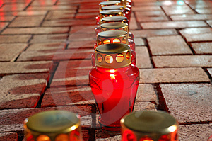 Lighting Candles Royalty Free Stock Image - Image: 3735106