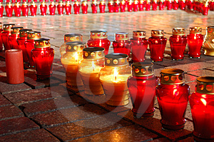 Lighting Candles Stock Photo - Image: 3735110