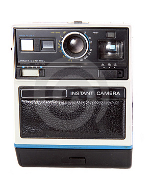 Retro Instant Camera Royalty Free Stock Photo - Image: 3740105