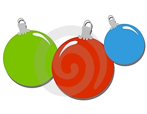 Simple Christmas Ornaments Clip Art Royalty Free Stock Image