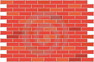 Free Stock Image - Wall red brick. Background.