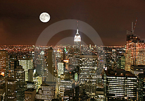 New York City midtown skyline Royalty Free Stock Photos