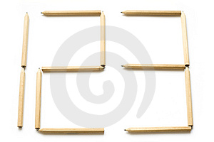 Numbers And Pencils Royalty Free Stock Photos - Image: 3765268