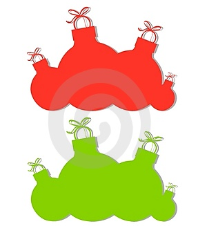 Christmas Ornament Silhouettes Stock Photo - Image: 3765880